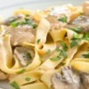 Pasta with Chicken & Mushroom Saute